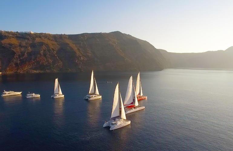 Voile, bateau, Santorin, Grèce, Adrenaline Hunter