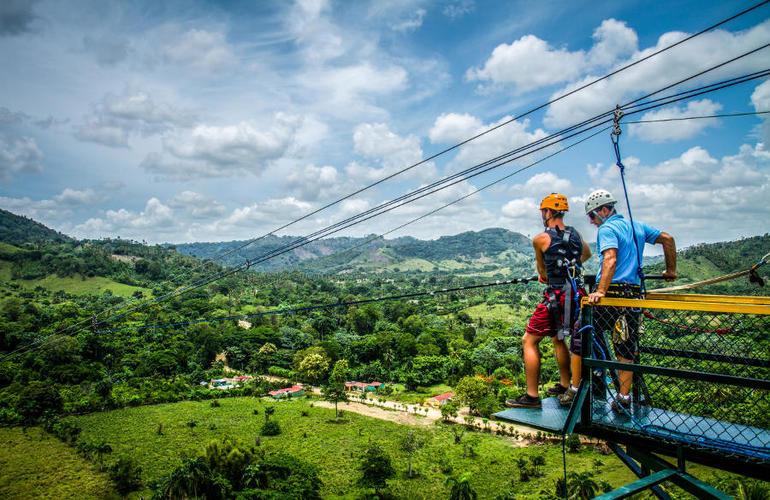 Rope Swinging And Zip Lining Near Punta Cana