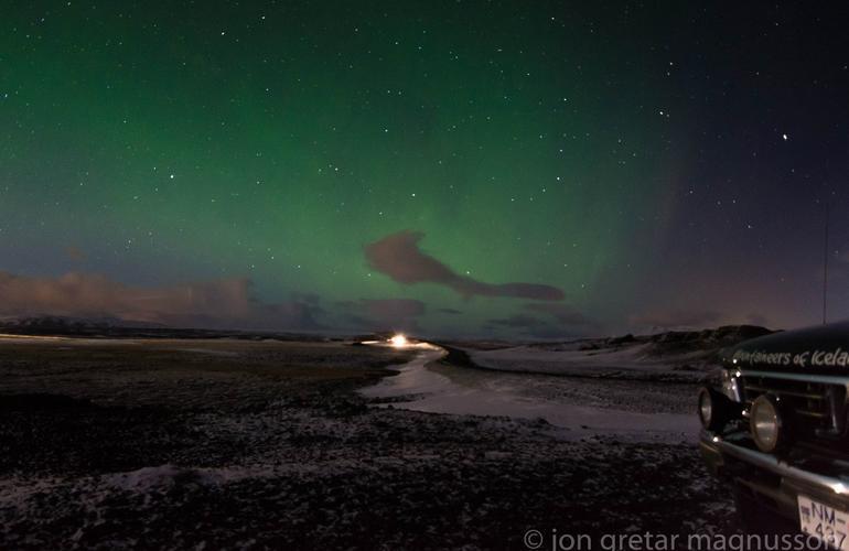 Northern Lights Snowmobile Tour From Gullfoss