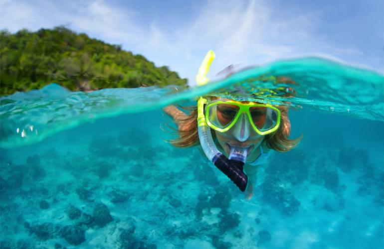 Snorkeling in Grand Baie, Mauritius