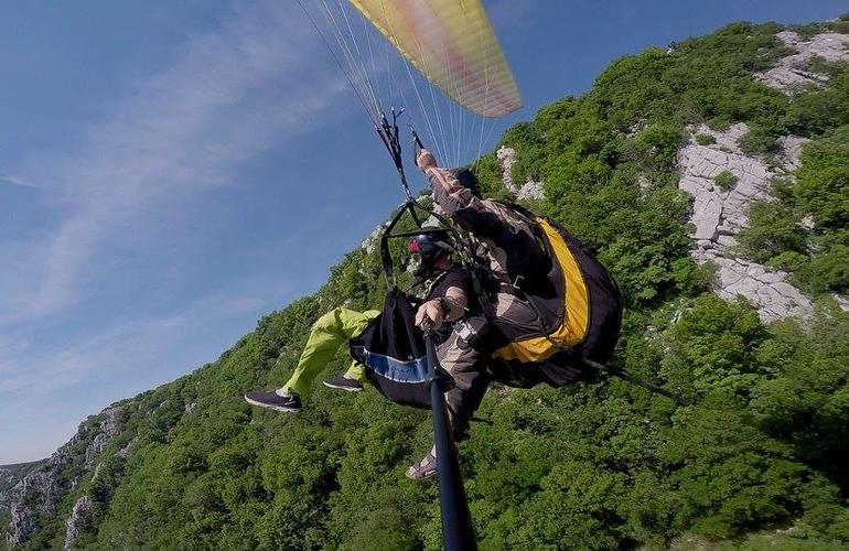 Tandem paragliding on the Dalmatian Coast near Makarska