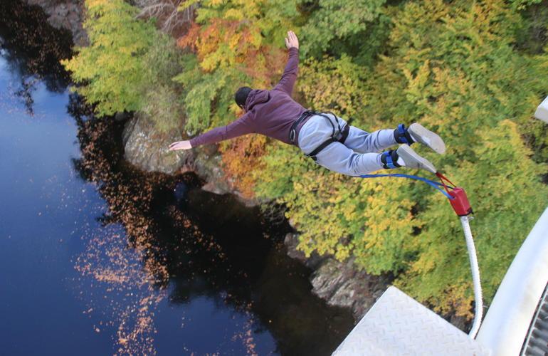 Bungee Jump Over The Garry River In Killiecrankie