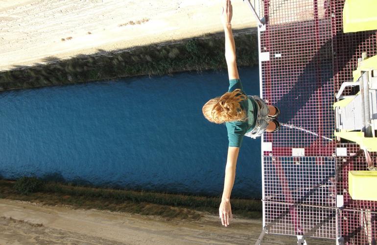 saut à l'élastique canal de Corinthe