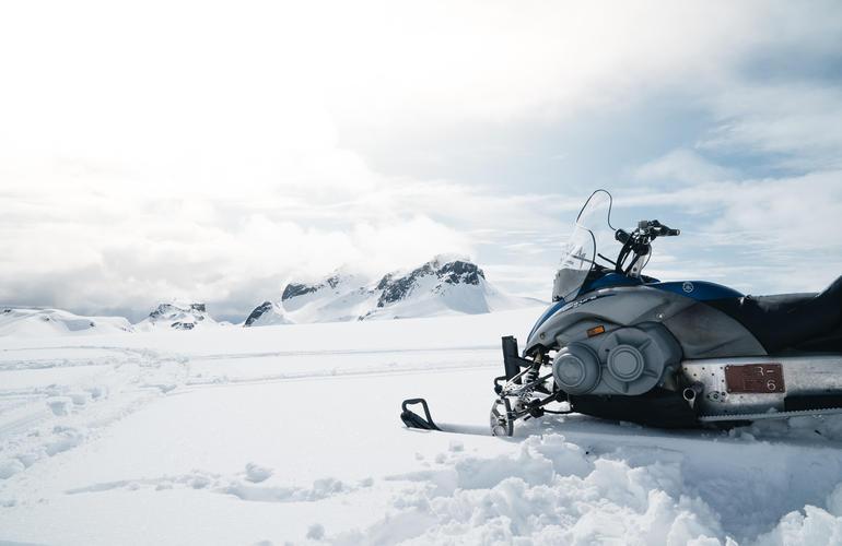 Snowmobile Tour On Langjokull Glacier In Gullfoss