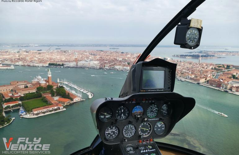 Helicopter flight in Venice