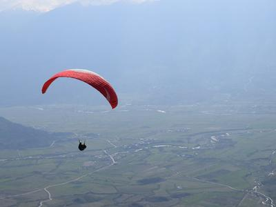Tandem paragliding flight over Preveza, Greece