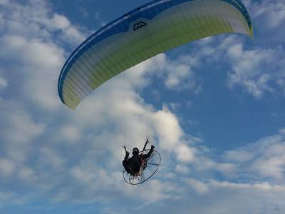 Paragliding: Tandem paramotor flight over Kefalonia