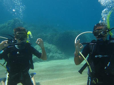 Discover Scuba Diving on a reef in Corfu