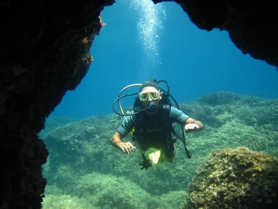 Guided adventure dives in Corfu