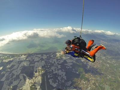Skydiving: Tandem skydive from 4500m over the Amalfi Coast near Naples