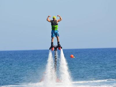 Flyboarding session in Santorini