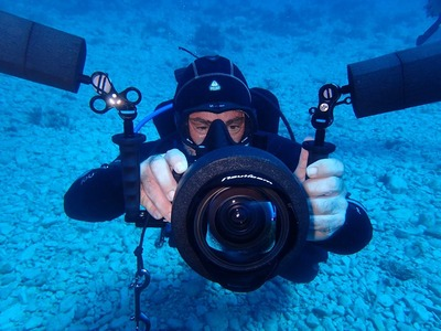 Guided adventure dives in Paxos