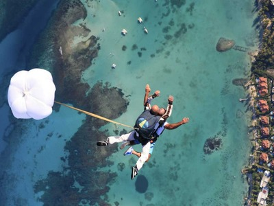 Tandem skydive in St Francois, Guadeloupe