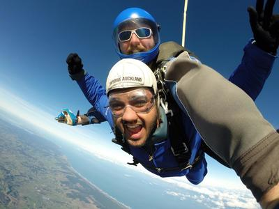 Tandem skydive in Auckland, New Zealand