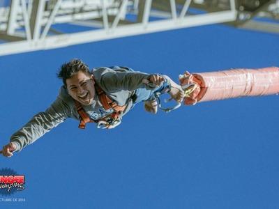 Highest bungee jump in Spain (70m) near Barcelona