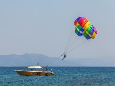 Parasailing in Kos Island, Greece