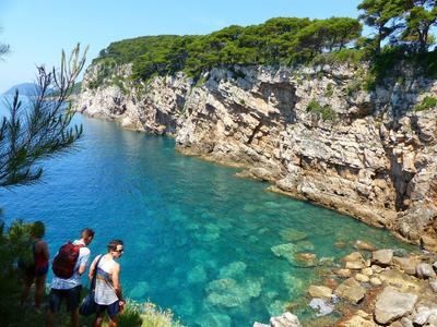 Hiking excursion on Kolocep Island, near Dubrovnik