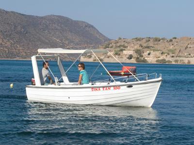 Snorkeling boat tour in Spinalonga