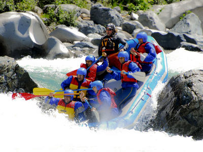 Rafting excursions in Venetikos river, Grevena