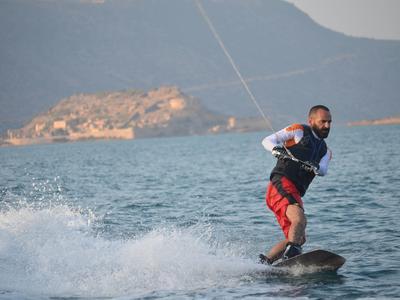 Boat Wakeboarding session in Elounda