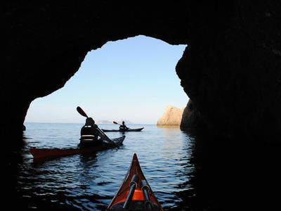 Sea kayak excursion in Agia Galini near Heraklion, Crete