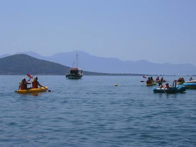 Sea kayaking tours in Elounda