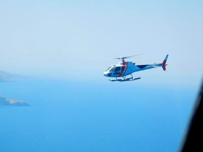 Helicopter tours in Santorini