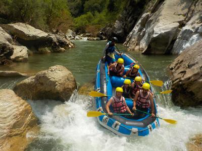 Rafting excursion in Lousios river