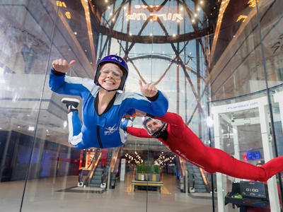 First time indoor skydiving flight in Paris