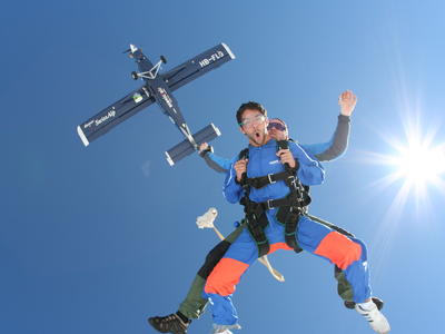 Tandem skydive over Interlaken, Switzerland