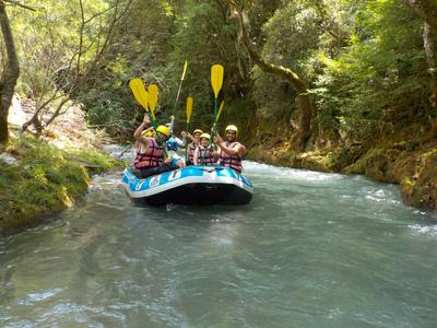 Rafting excursion down the Lousios river