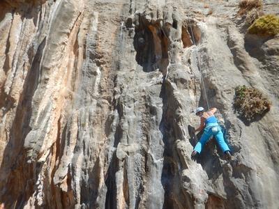 Introduction course to rock climbing in Kalymnos