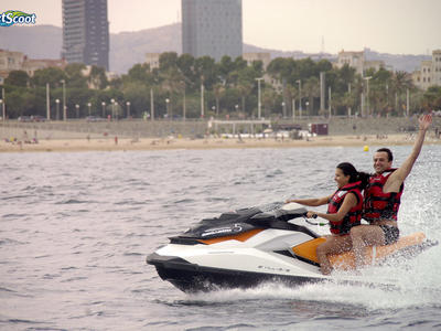 Jet ski excursion around Port Forum in Barcelona