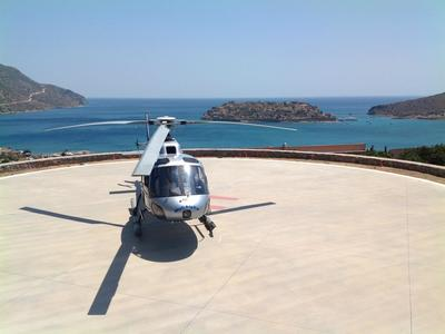 Helicopter tours in Elounda, Crete