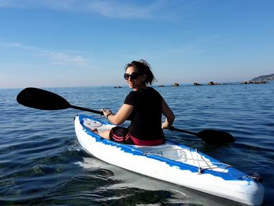 Kayak rental in Gardenos beach, Corfu
