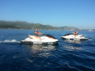 Jet ski rental on Sunj beach, Dubrovnik