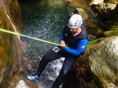 Canyoning: Initiation and technical canyons in Pelion, Greece