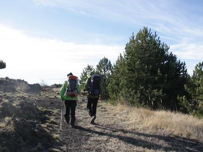 Hiking excursion up Mount Etna