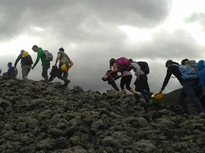 Hiking excursion up Mount Etna in Sicily