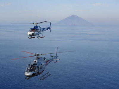 Private Helicopter flight over Mt. Etna and Taormina