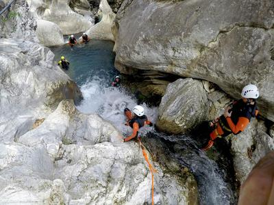 Canyoning at Guadalmina Gorge near Marbella