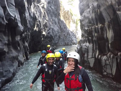 Canyoning: Body Rafting in the Alcantara River Gorge near Mount Etna