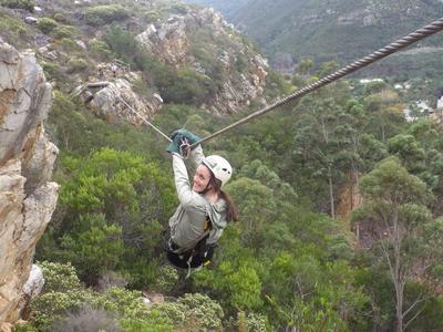 Zipline near Cape Town