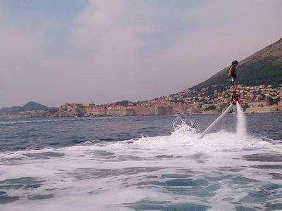 Flyboard on Titova Villa Beach, Dubrovnik