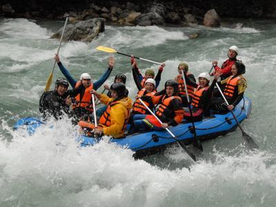 Rafting down the Lao river in Laino Borgo, Calabria