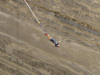 Bungee Jumping: Bungee jumping in the Corinth channel, Greece