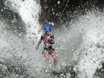 Canyoning down river Iannello in Laino Borgo, Calabria
