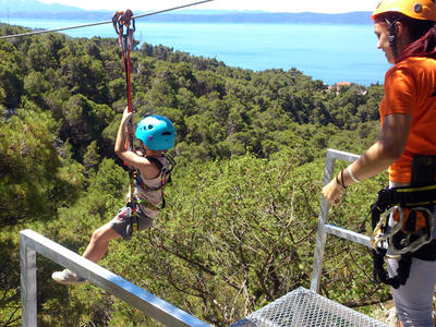 Zip Line Tučepi from Makarska