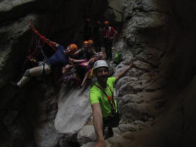 Canyoning at Agios Loukas Canyon near Athens
