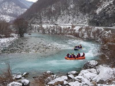 Winter Rafting on the Tara River in Biogradska Gora National Park